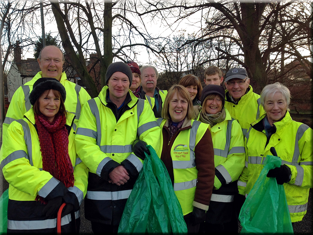 The last litter pick of 2014 took place on           Saturday 13th December when we met at the Town Bridge car park.