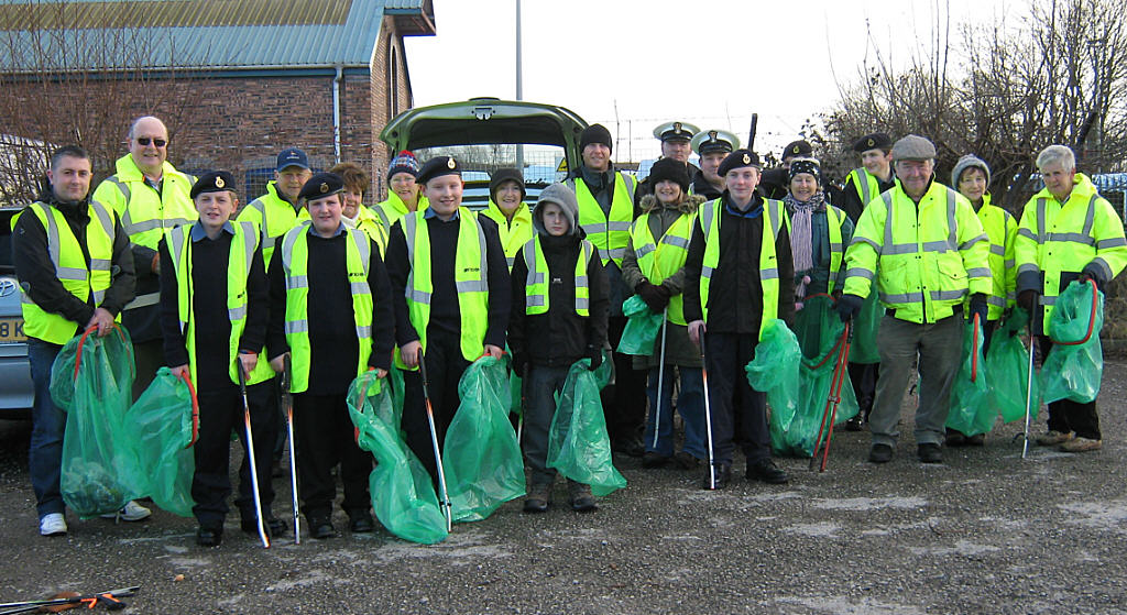 Sea Cadet Corps Work With Middlewich Clean Team